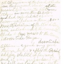 Image of Mrs White's handwritten notes from WCTU convention p 5