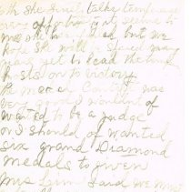 Image of Mrs White's handwritten notes from WCTU convention p 6