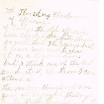 Image of Mrs White's handwritten notes from WCTU convention p 7