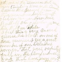 Image of Mrs White's handwritten notes from WCTU convention p 8