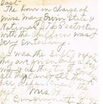 Image of Mrs White's handwritten notes from WCTU convention last page 9