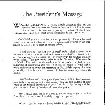 Image of President's Message Ohio Wesleyan Magazine October 1941