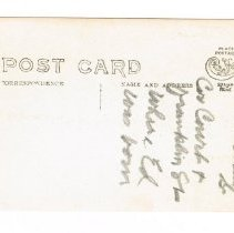 Image of reverse side of postcard
