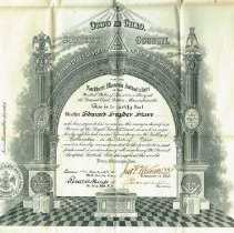 Image of AA Scottish Rite Certificate