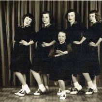 Image of 1948 Orange High School cheerleading squad -