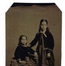 Image of Tintype portrait of two girls