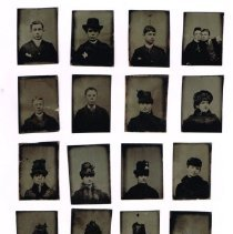 Image of 18 Tintype Portraits of Unknown People