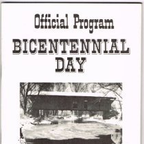 Image of Official program Bicentennial Day Kilbourne Ohio 1976