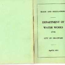 Image of Delaware City Water Works Rules and Regulations -