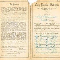 Image of 4th Year Report Card (1921 - 1922) - Exterior