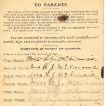 Image of Mary McKinnie Report Card