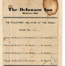 Image of Delaware Inn Price List