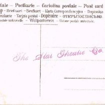 Image of Easter Post Card #2 Star Theatre - Back