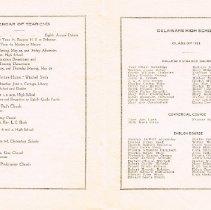 Image of Delaware High School Commencement Program 1921 inside