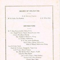 Image of Delaware High School Commencement Program 1921 back