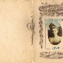 Image of Cheshire M.E. Sunday School, Class No. 4 Christmas Greeting Souvenir from 1910 -
