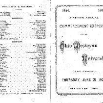 Image of Cover of Commencement Program