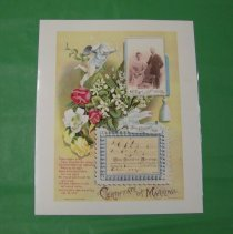 Image of Certificate of Marriage collage for Healy and Krohn, 1893 -