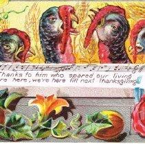 """Image of """"Thanksgiving Greeting"""" postcard"""