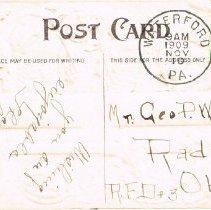 "Image of ""Thanksgiving Greeting"" postcard (back)"
