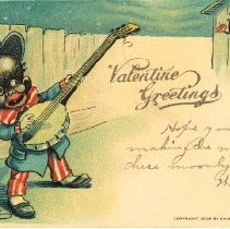 "Image of ""Valentine Greetings"" postcard"