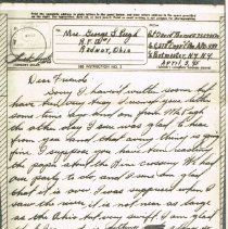 Image of V-Mail from Private David Thomas to Mrs. George L. Pugh of Radnor -