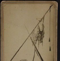 Image of 121 st. Ohio Volunteer Infantry Flag of Co. K at close of Civil War   Photo by Bo Durtha, Delaware, Oh - Sep 1890