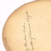 Image of portion of reverse side