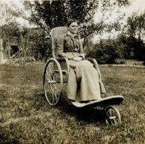Image of Linnie Nash in Wheel Chair