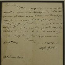Image of Framed Letter from 1812