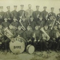 Image of 1917 Berlin township band.                                                                                                                                                                                          - 1917