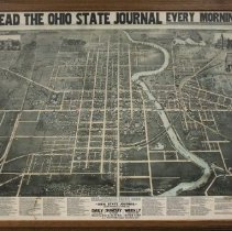 Image of Framed map of Delaware Ohio 1890