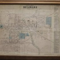 Image of Framed Plan of Delaware 1866
