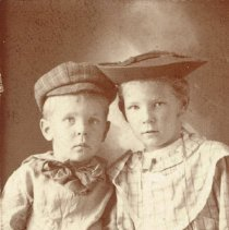 Image of Young Lois Cole (Nash) and Unknown Boy -