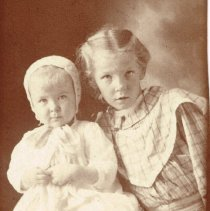 Image of Young Lois Cole (Nash) and Unknown Baby -