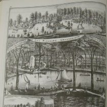 Image of Greenwood Farm and Lake from 1875 Delaware County Atlas