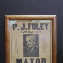 Image of P.J. Foley election poster