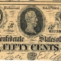 Image of Fifty Cent Confederate States of America copy