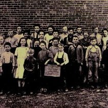 Image of Young students and teacher of Haney School - Concord Township       - 2 Oct 1914