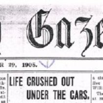 Image of Life crushed out under the cars 29 Dec 1905