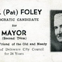 Image of Pat Foley's campaign card