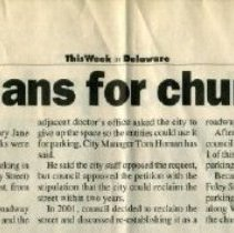 Image of 30 Mar 2003 Gazette article on Closing Foley Street