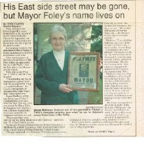 Image of East Side street may be gone, but Mayor Foley's name lives on