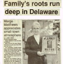 Image of Foley Family roots run deep in Delaware p1  (6 Nov 1997)