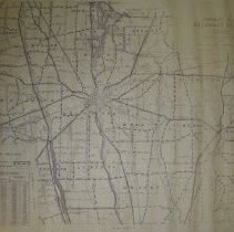 Image of Print of 1952 highway map of Delaware County, Ohio