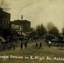 Image of 1914  Ashley, Ohio, business district