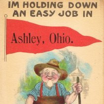 Image of I'm holding down an easy job in Ashley, Ohio.