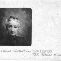 Image of Fidelia Roloson, West Berlin, Delaware County, Ohio.