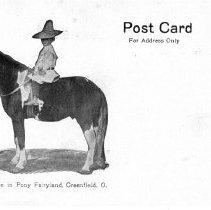 Image of Sponsorship Post Card, Pony Fairyland, Greenfield, Ohio.