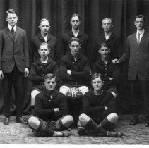 Image of 1913-1914 Delaware High School Basketball Squad. -